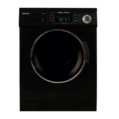 All-in-One 1.6 cu. ft. Compact Combo Washer and Electric Dryer with Optional Condensing/Venting Dry in Black