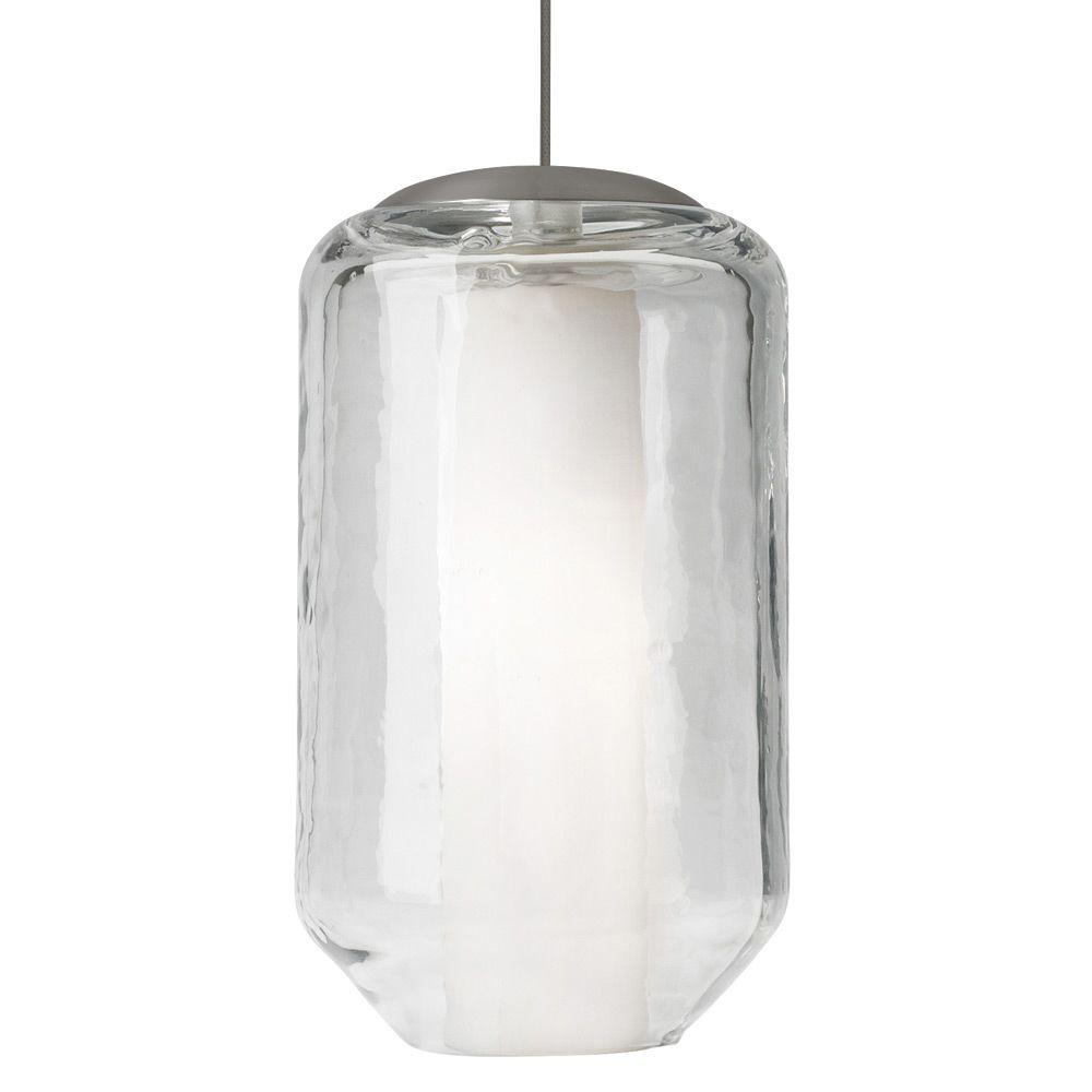 LBL Lighting Mini-Mason 1-Light Bronze Xenon Mini Pendant with Clear Shade