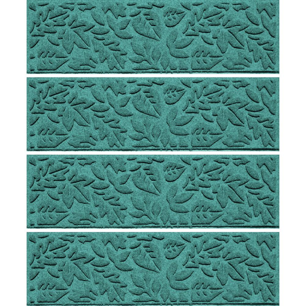 Aquamarine 8.5 in x 30 in. Fall Day Stair Tread (Set