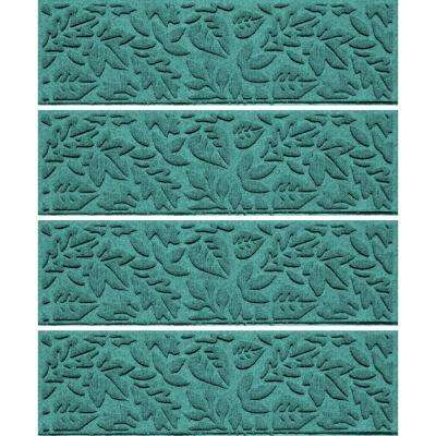 Aquamarine 8.5 in x 30 in. Fall Day Stair Tread Cover (Set of 4)