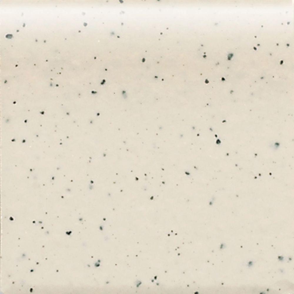Keystones Unglazed Pepper White 2 in. x 2 in. Porcelain Round Outside Corner Floor and Wall Tile