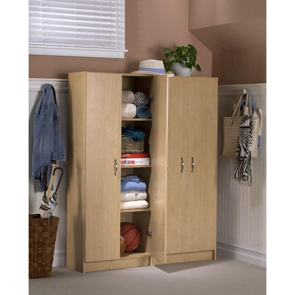 4 Shelf Laminate Storage Cabinet In Birch