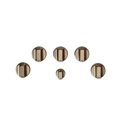 Gas Cooktop Knob Kit in Brushed Bronze