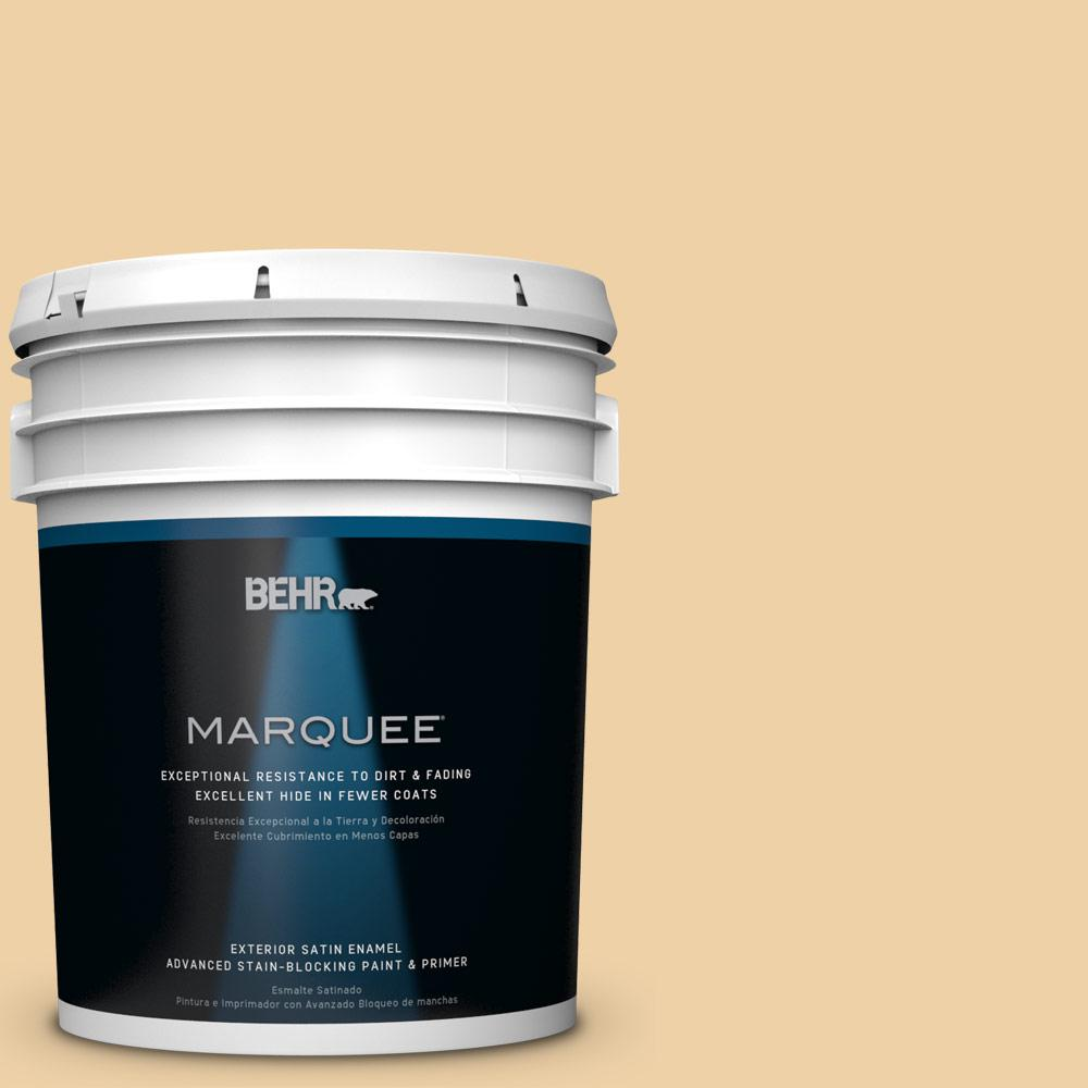BEHR MARQUEE 5-gal. #HDC-CT-01 Amber Moon Satin Enamel Exterior Paint