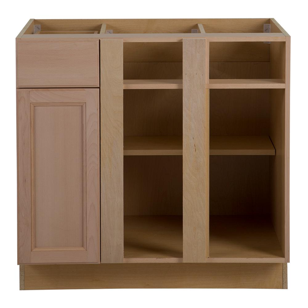 Hampton bay blind base cabinet bar cabinet for Assembled kitchen units