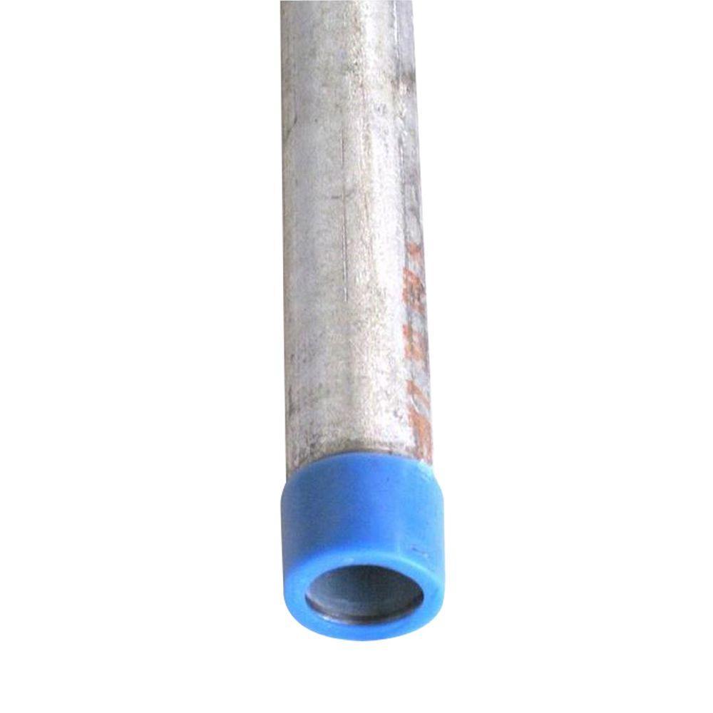 VPC 1 in. x 48 in. Galvanized Steel Schedule 40 Cut Pipe