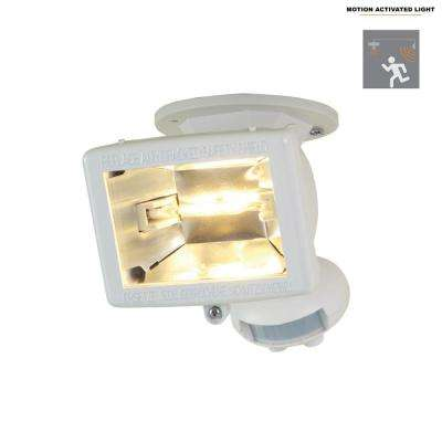 110-Degree White Halogen Motion Activated Sensor Outdoor Security Flood Light
