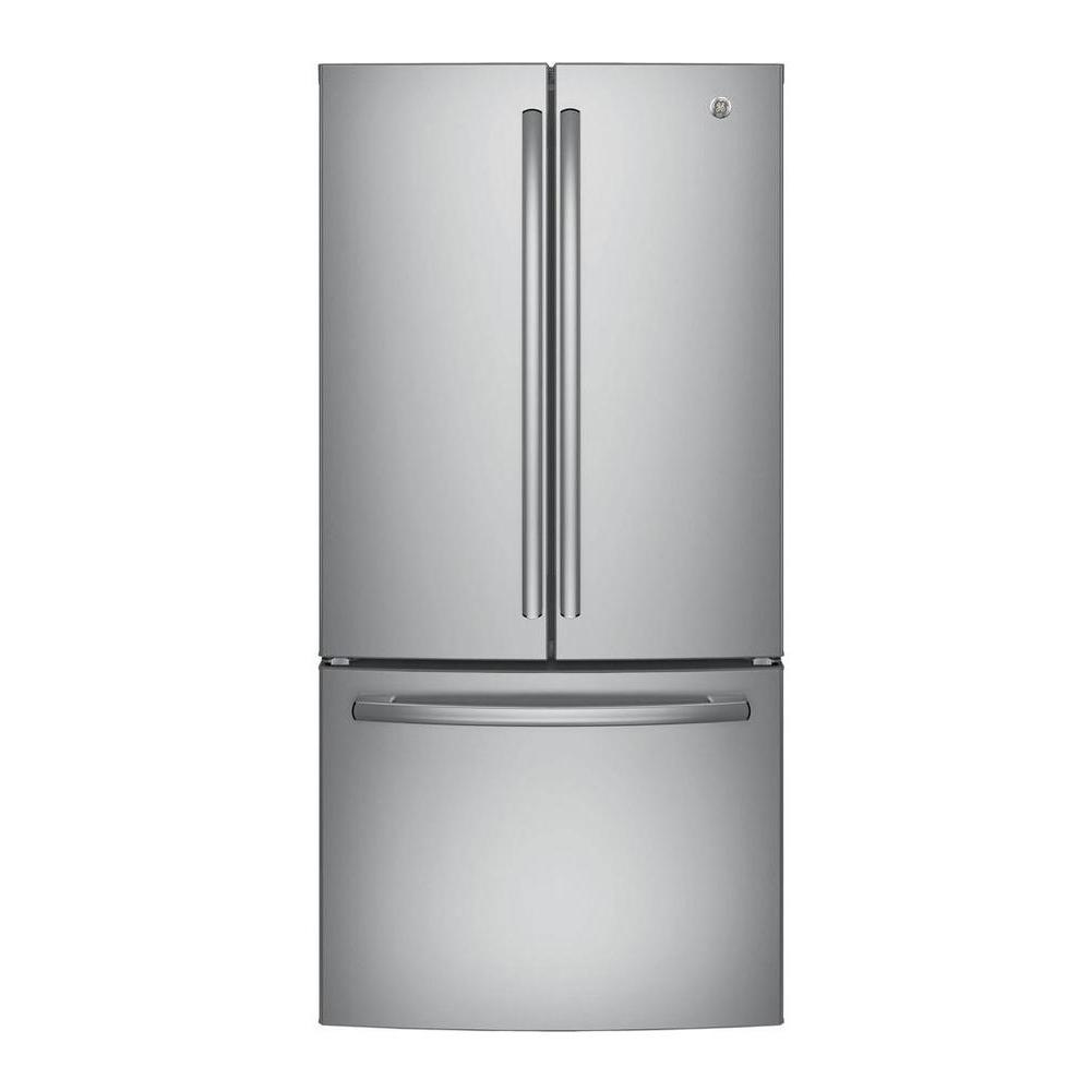 Ge 33 In W 248 Cu Ft French Door Refrigerator In Stainless Steel