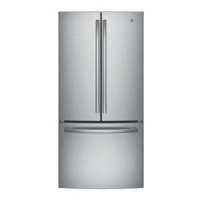 33 in. W 24.8 cu. ft. French Door Refrigerator in Stainless Steel