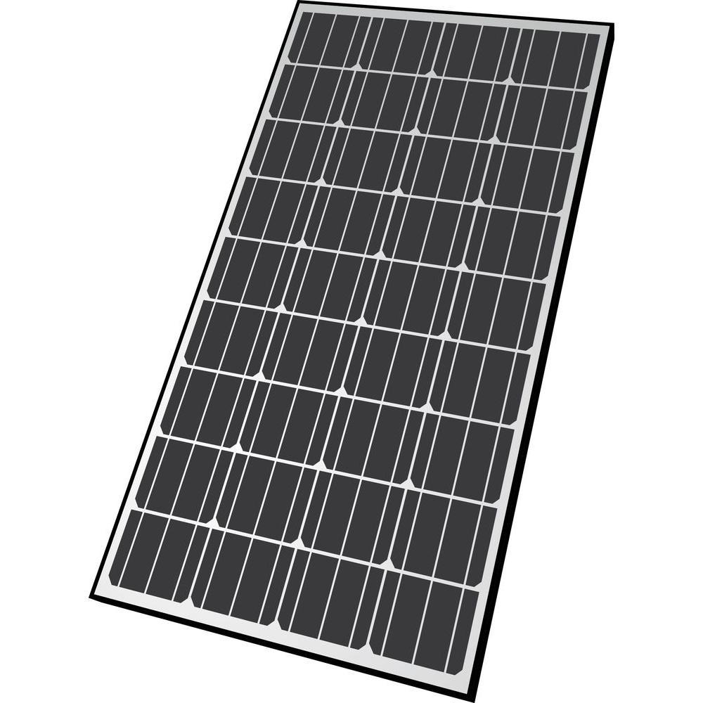 165-Watt Monocrystalline Solar Panel for 12-Volt Charging