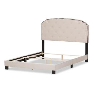 Lexi Beige Fabric Upholstered Full Bed