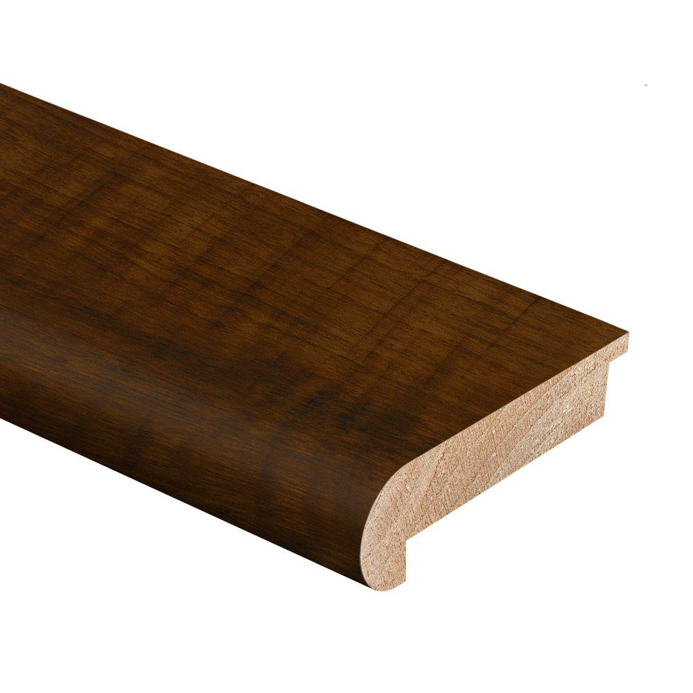 Zamma Black Walnut 1/2 in. Thick x 2-3/4 in. Wide x 94 in. Length Hardwood Stair Nose Molding