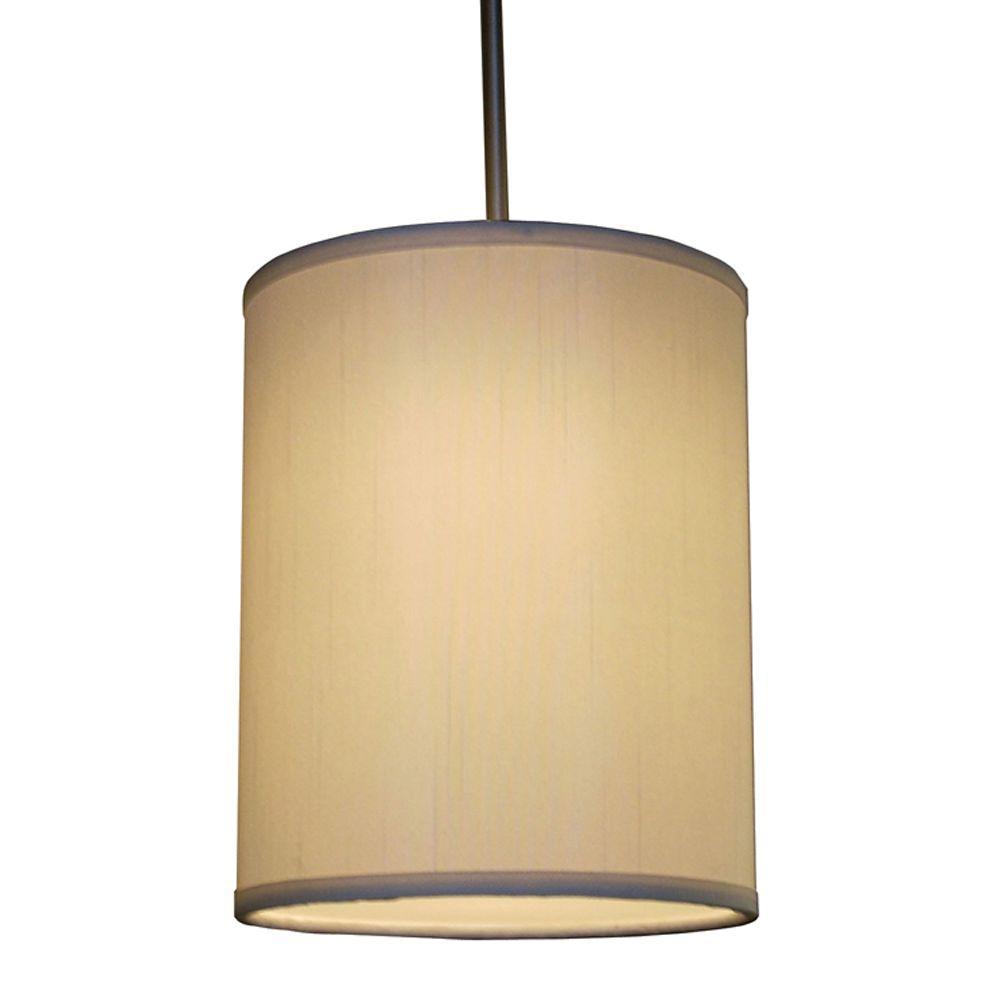Hunt 1-Light Cream Shade Hanging Pendant