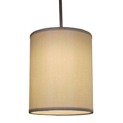 Hunt 1-Light Cream Shade Hanging Pendant