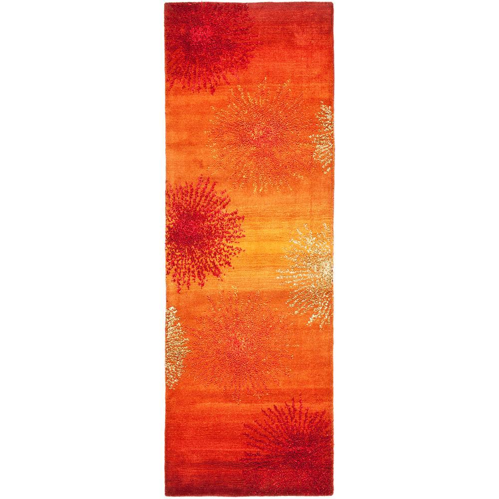 Soho Rust/Multi 3 ft. x 12 ft. Runner Rug