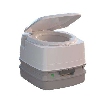 Porta Pottic 320P Portable 1-Piece .12 GPF Single Flush Piston Flush Round Toilet in White