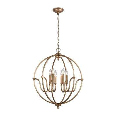 Stanton 6-Light Matte Gold Chandelier