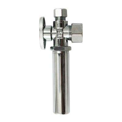 5/8 in. x 3/8 in. Brass Quarter Turn Angle Valve with Water Hammer Arrestor