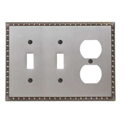 Renaissance 2 Toggle 1 Duplex Wall Plate - Antique Nickel