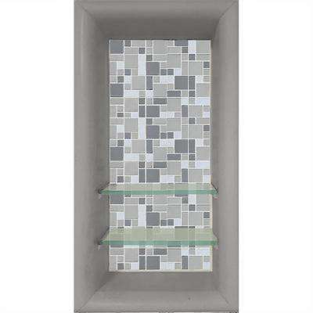 Newport 12 in. x 4 in. x 24 in. Shower Niche in Portland Cement