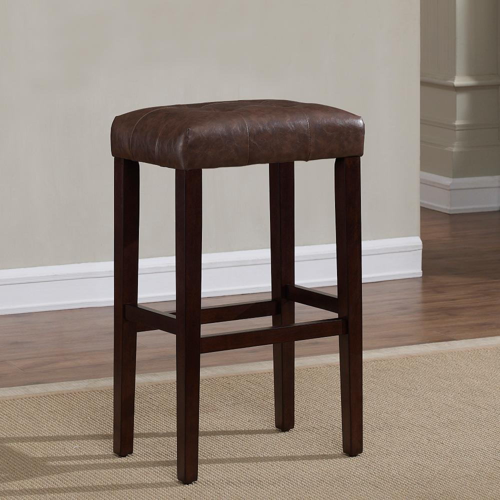 American Woodcrafters Taylor 30 In Espresso Cushioned Backless Bar Stool