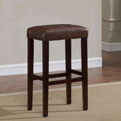 Taylor 30 in. Espresso Cushioned Backless Bar Stool