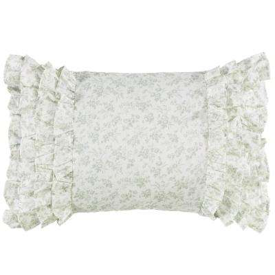 14 in. x 20 in. Harper Green Throw Pillow