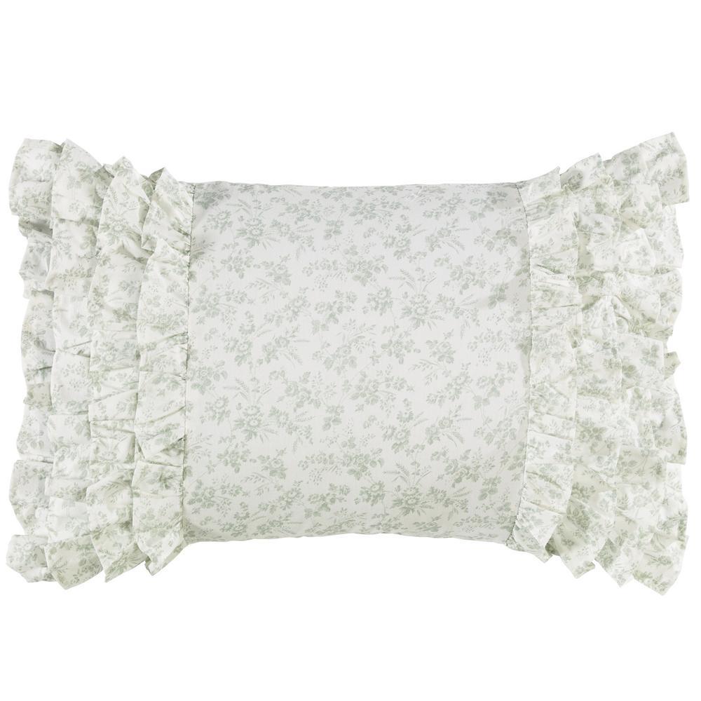 14 in. x 20 in. Harper Green Throw Pillow