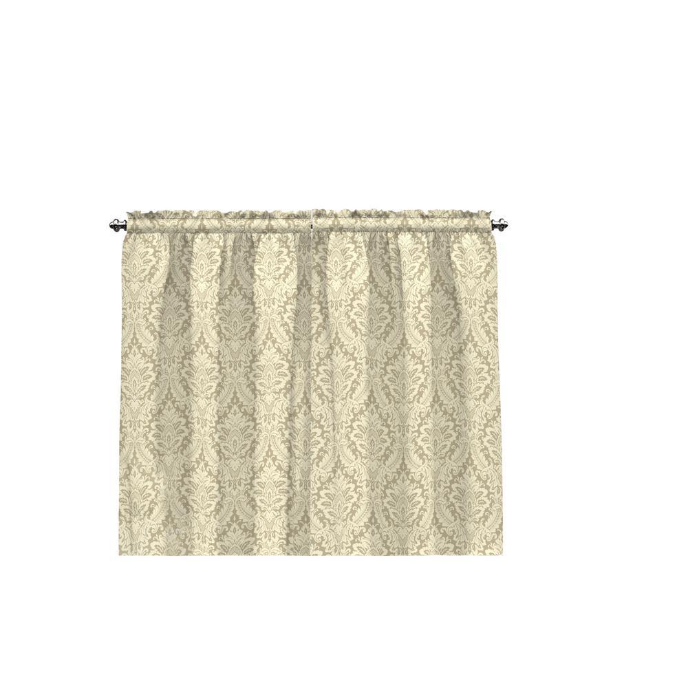 Donnington Window Tier Pair in Linen - 52 in. W x 36 in. L