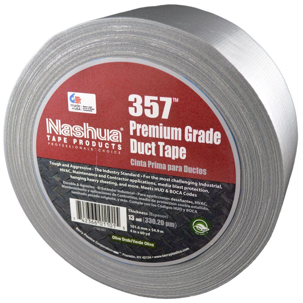 Nashua Tape 2.83 in. x 60.1 yds. 357 Ultra Premium Silver Duct Tape