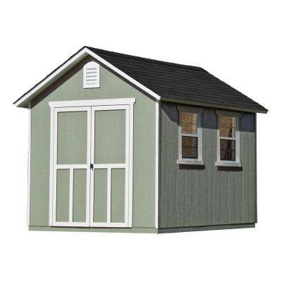 Meridian 8 ft. x 10 ft. Wood Storage Shed with Floor