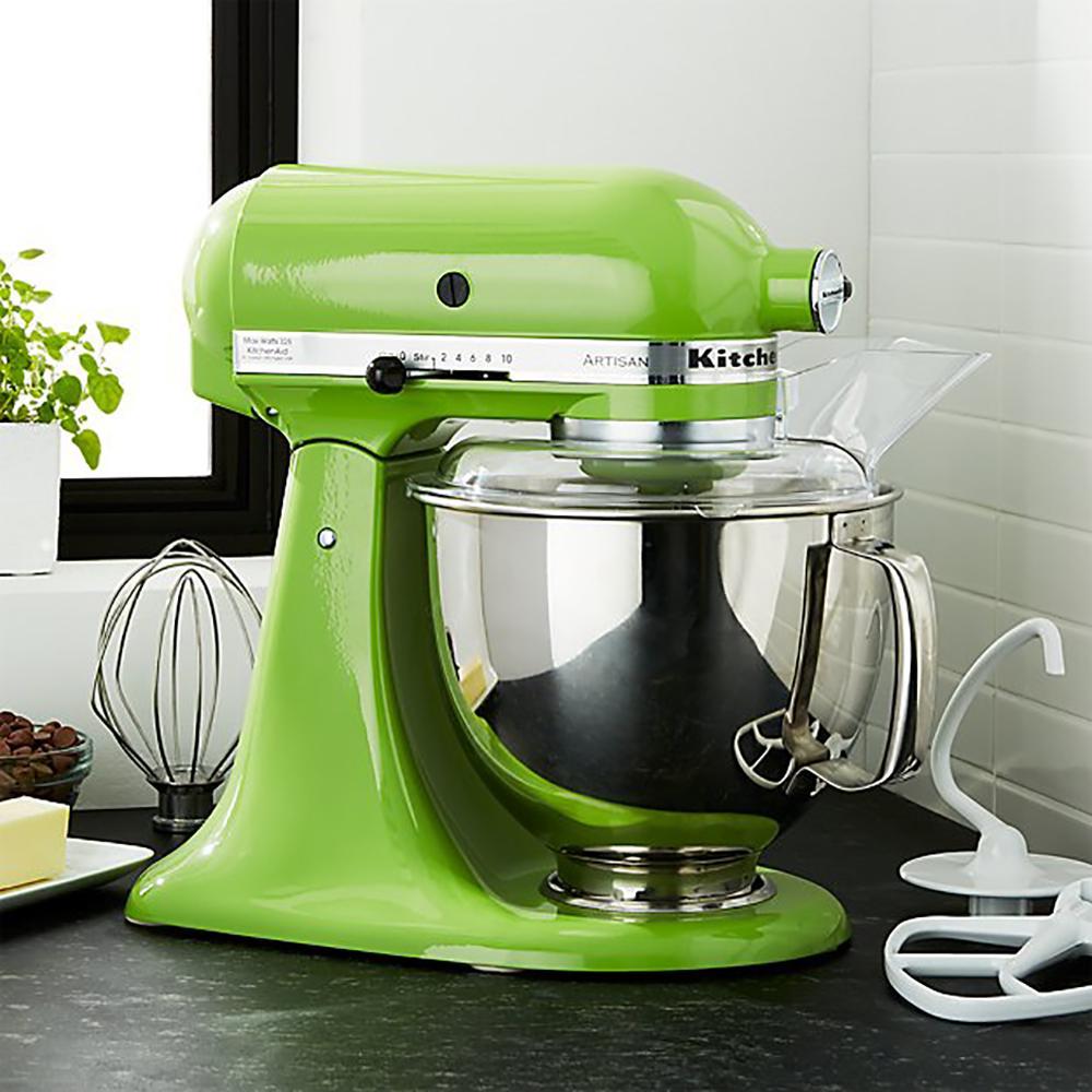 KitchenAid Artisan 5 Qt. 10-Speed Green Apple Stand Mixer with Flat ...