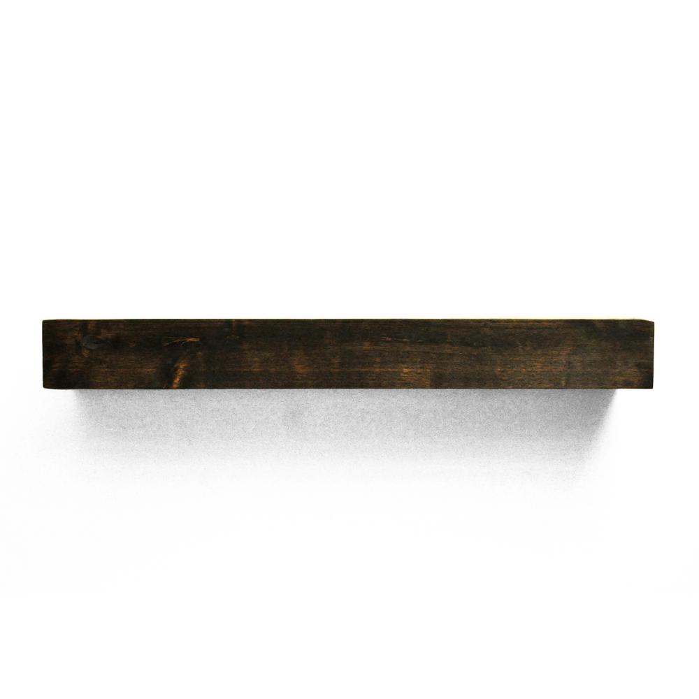 Dark Chocolate Cap Shelf Mantel