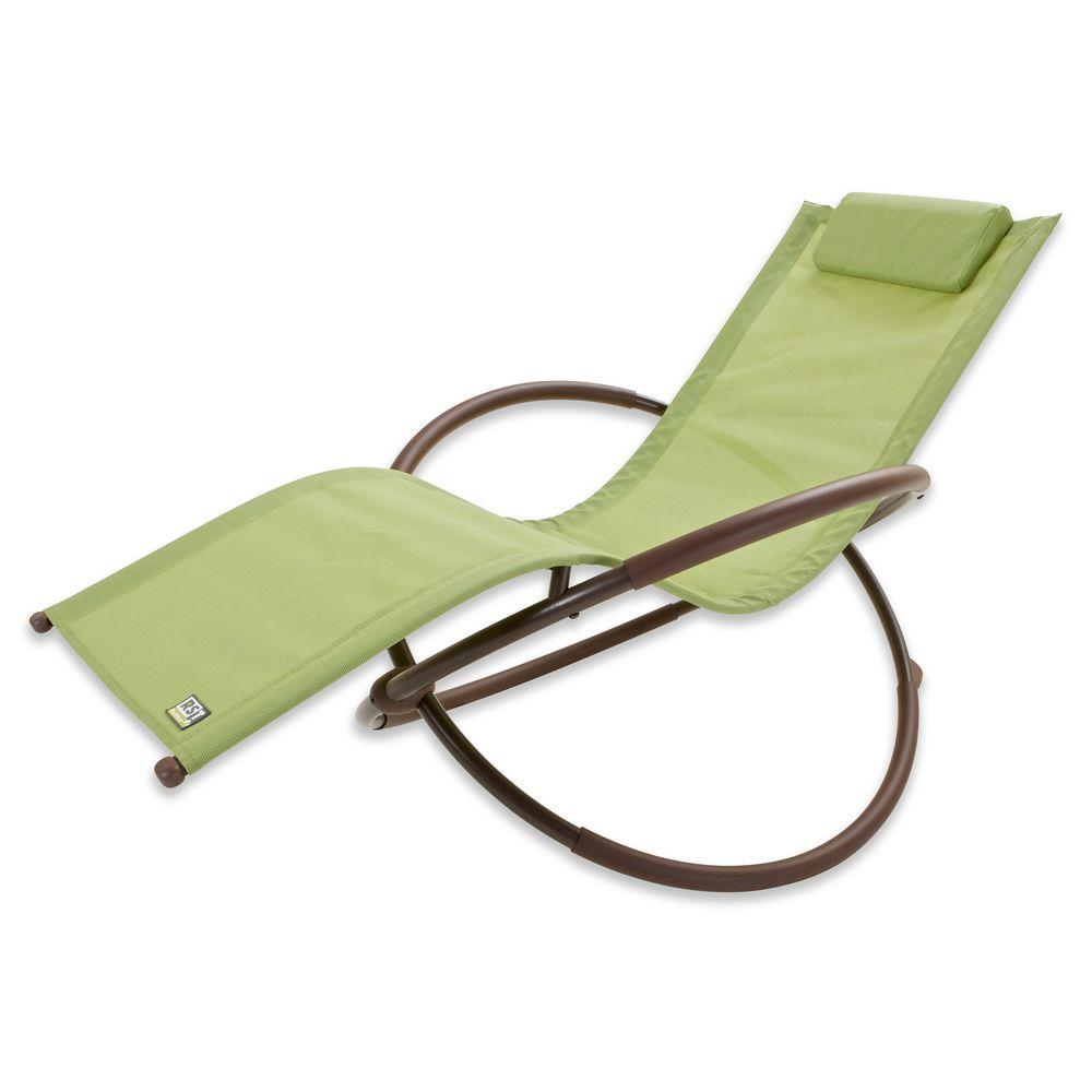 RST Brands Orbital Sling Patio Lounger Chaise in Green  sc 1 st  Home Depot & RST Brands Orbital Sling Patio Lounger Chaise in Green-OP-OL04-Grn ...