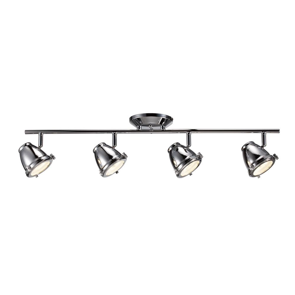 Vintage Brass Track Lighting: Glasgow 31 In. Oil Rubbed Bronze And Antique Brass