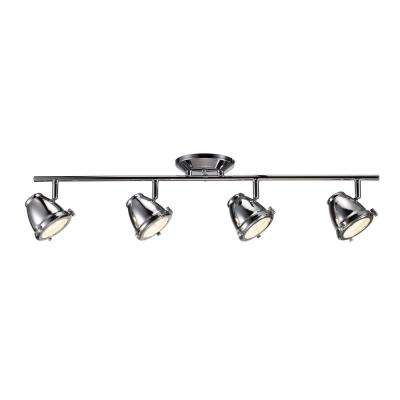 29 in. Chrome Integrated LED Directional Track Lighting Kit