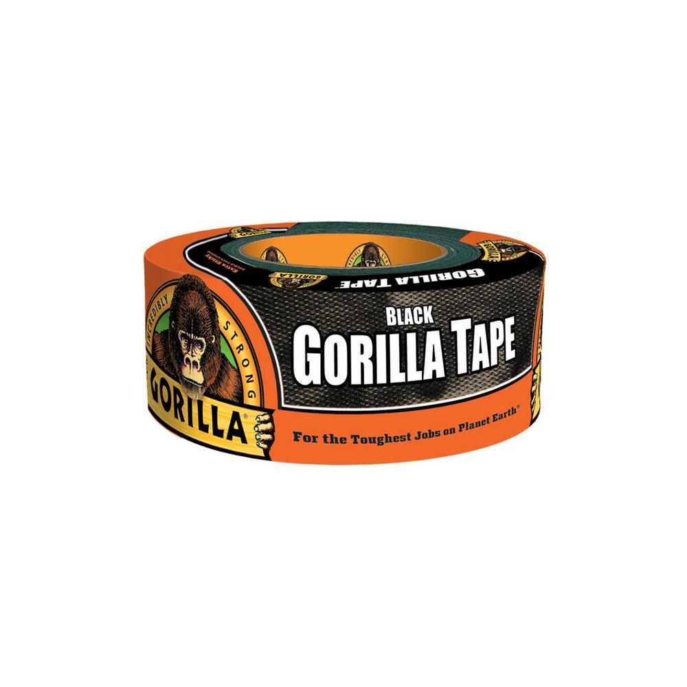 Gorilla 1.88 in. x 12 yd. Black Tape