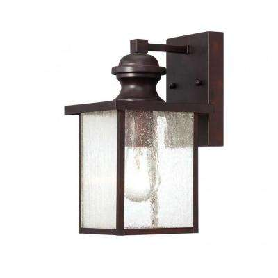Monti 1-Light English Bronze Outdoor Wall Mount Lantern
