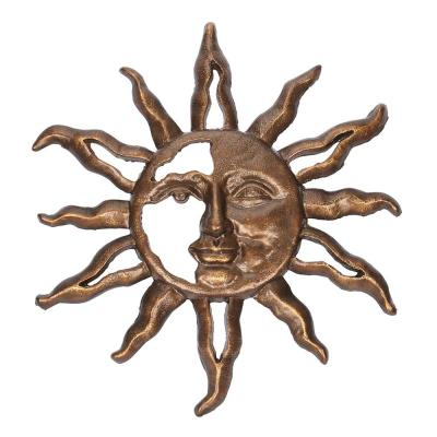 22.5 in. H Sunface Metal Wall Outdoor Decor