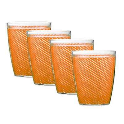 Fishnet 14 oz. Spice Orange Insulated Drinkware (Set of 4)
