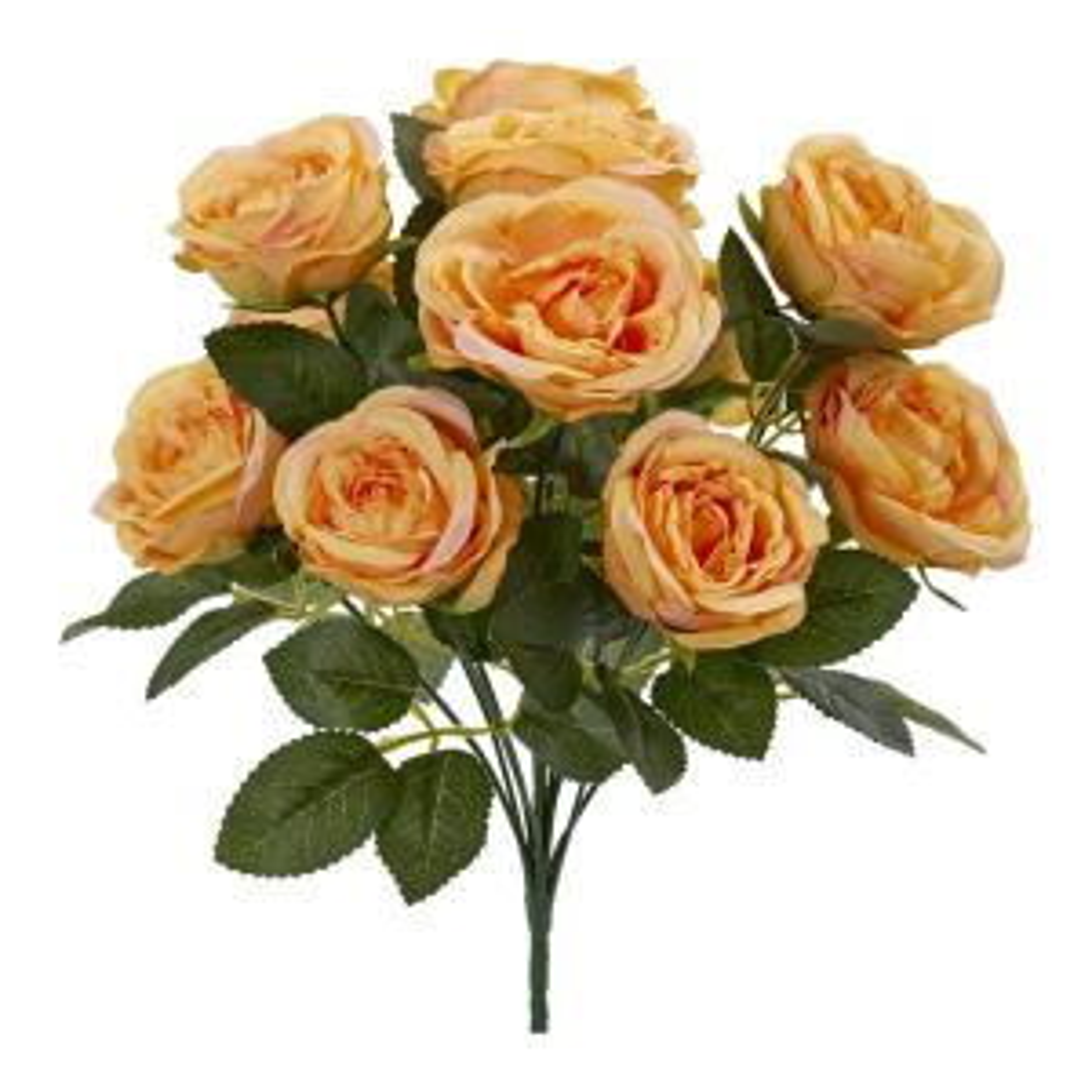 Indoor 14 Rose Bush Artificial Flower Set Of 6
