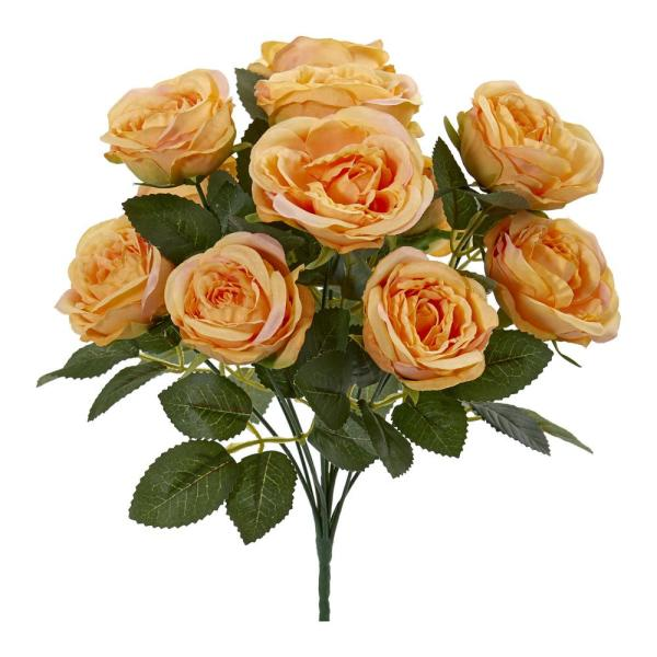 Nearly Natural Indoor 14 Rose Bush Artificial Flower (Set of 6)