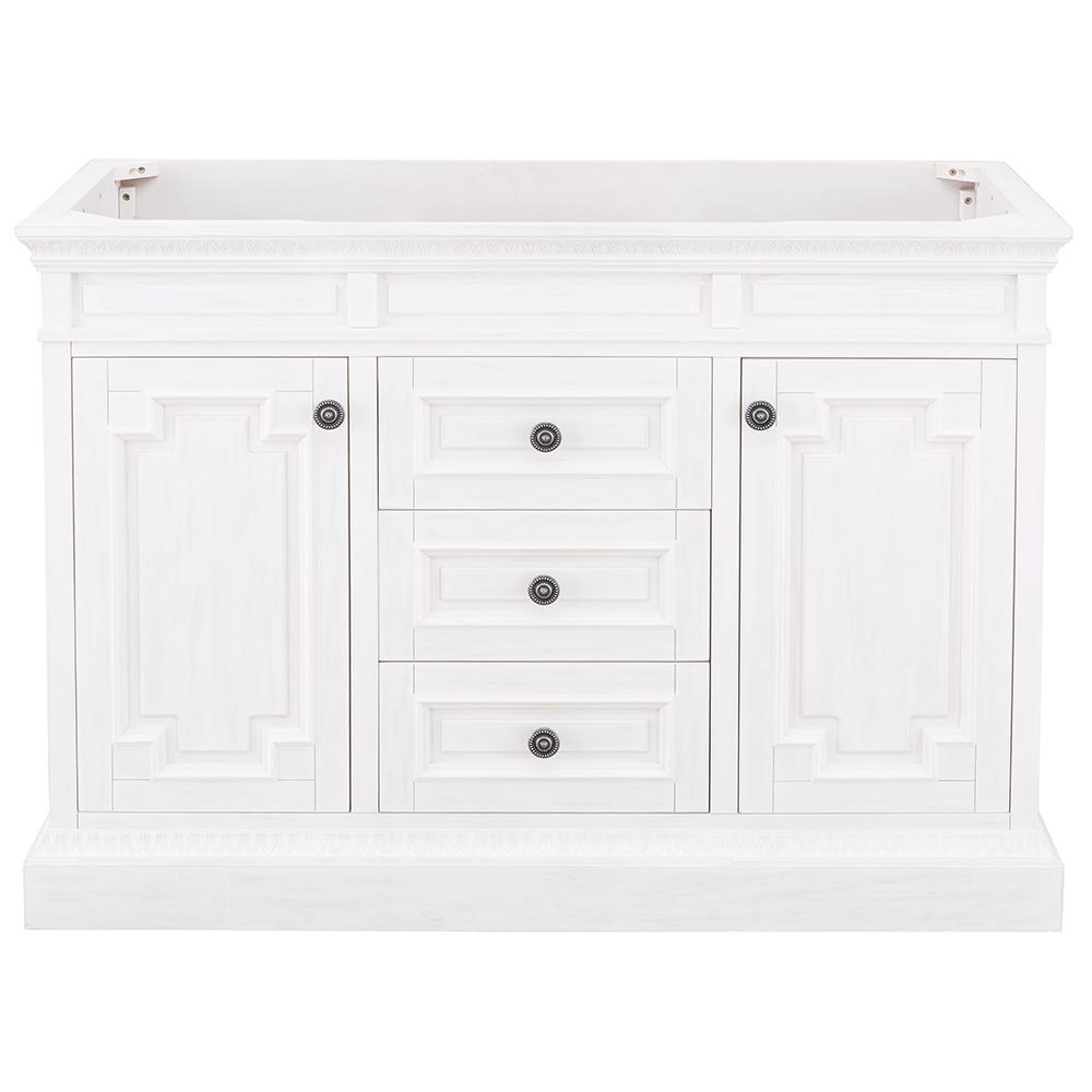 Home Decorators Collection Cailla 48 in. W x 21.50 in. D Bath Vanity Cabinet Only in White Wash