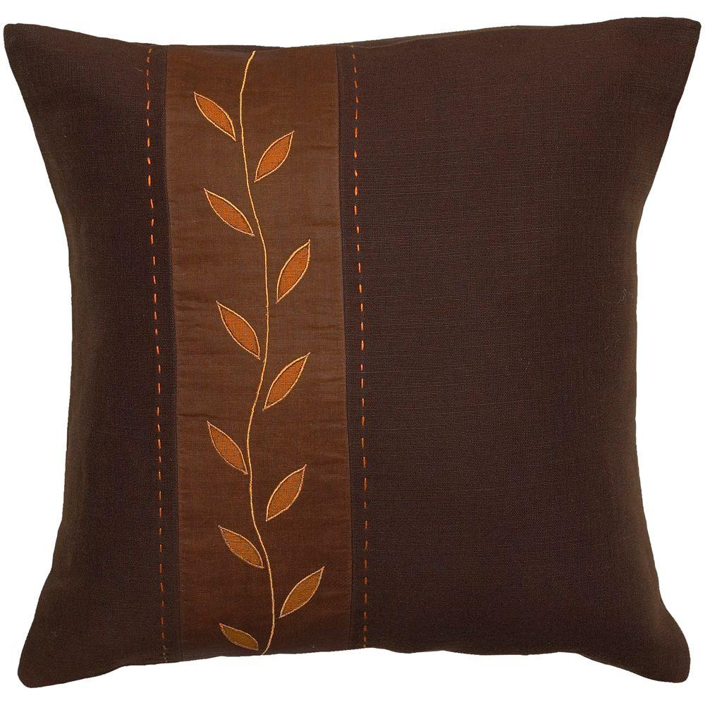Artistic Weavers LeafA2 18 in. x 18 in. Decorative Down Pillow-DISCONTINUED