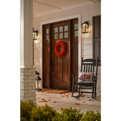 22 in. Orange Wood Curl Fall Wreath