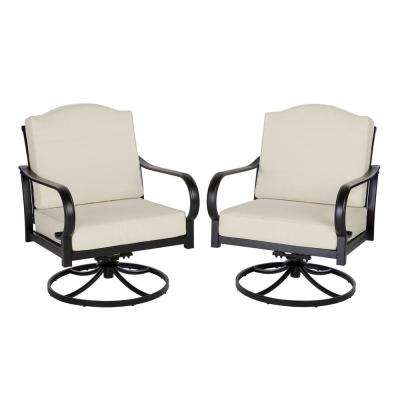 Laurel Oaks Brown Steel Outdoor Patio Lounge Chair with Bare Cushions (2-Pack)
