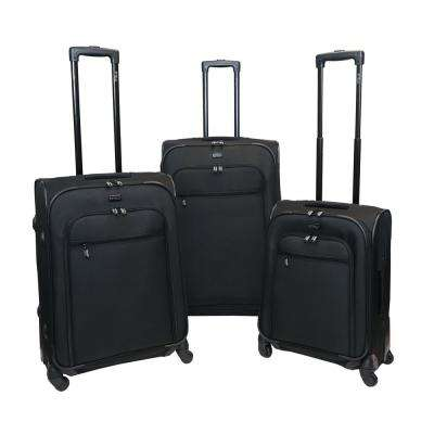Spectra 3-Piece Black Luggage Set