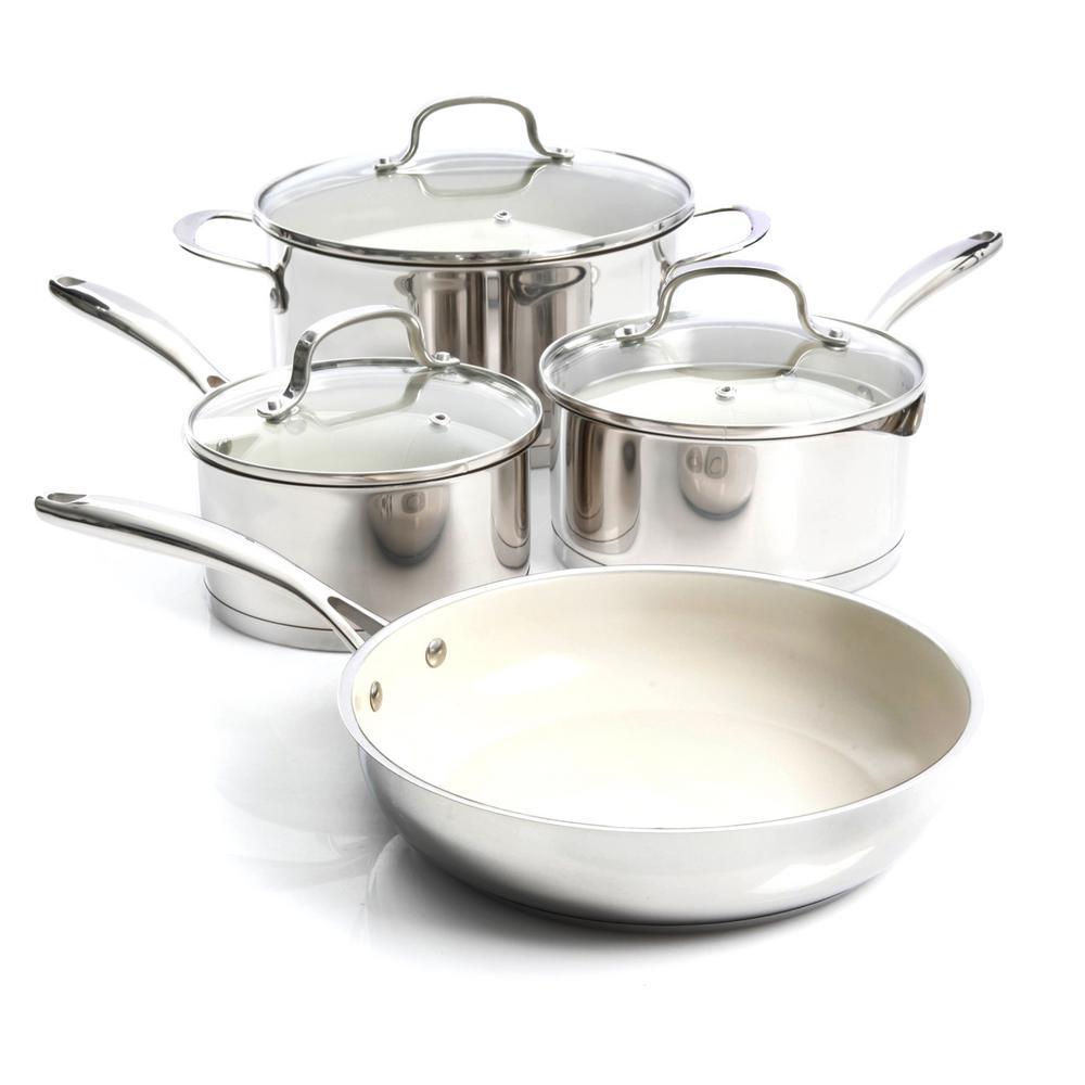 Gibson Cusine Gleaming 7-Piece Cookware Set 985100948M