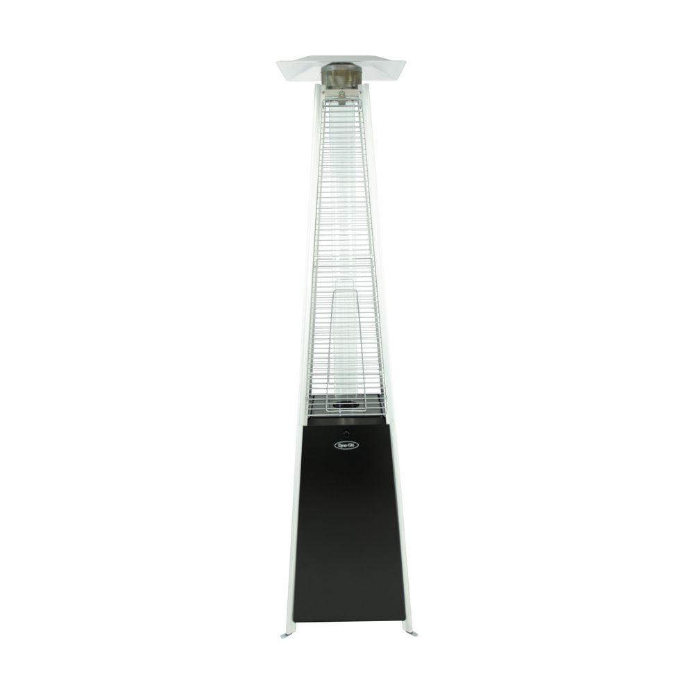 dyna glo 42 000 btu black pyramid flame gas patio heater dgph301bl