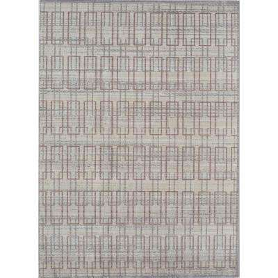 Ambrosia Ivory Gray Ivory 2  ft. 0 in. x 3  ft. 0 in. Rectangular Accent Rug
